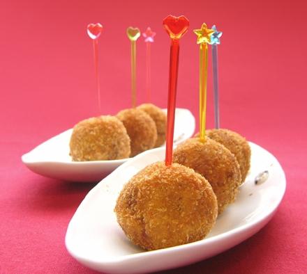 味間芋と奈良漬のクリスマスミニコロッケ