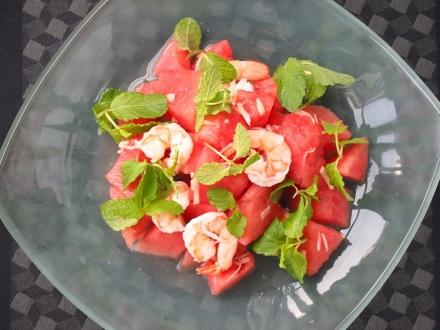 スイカと新生姜のサラダ